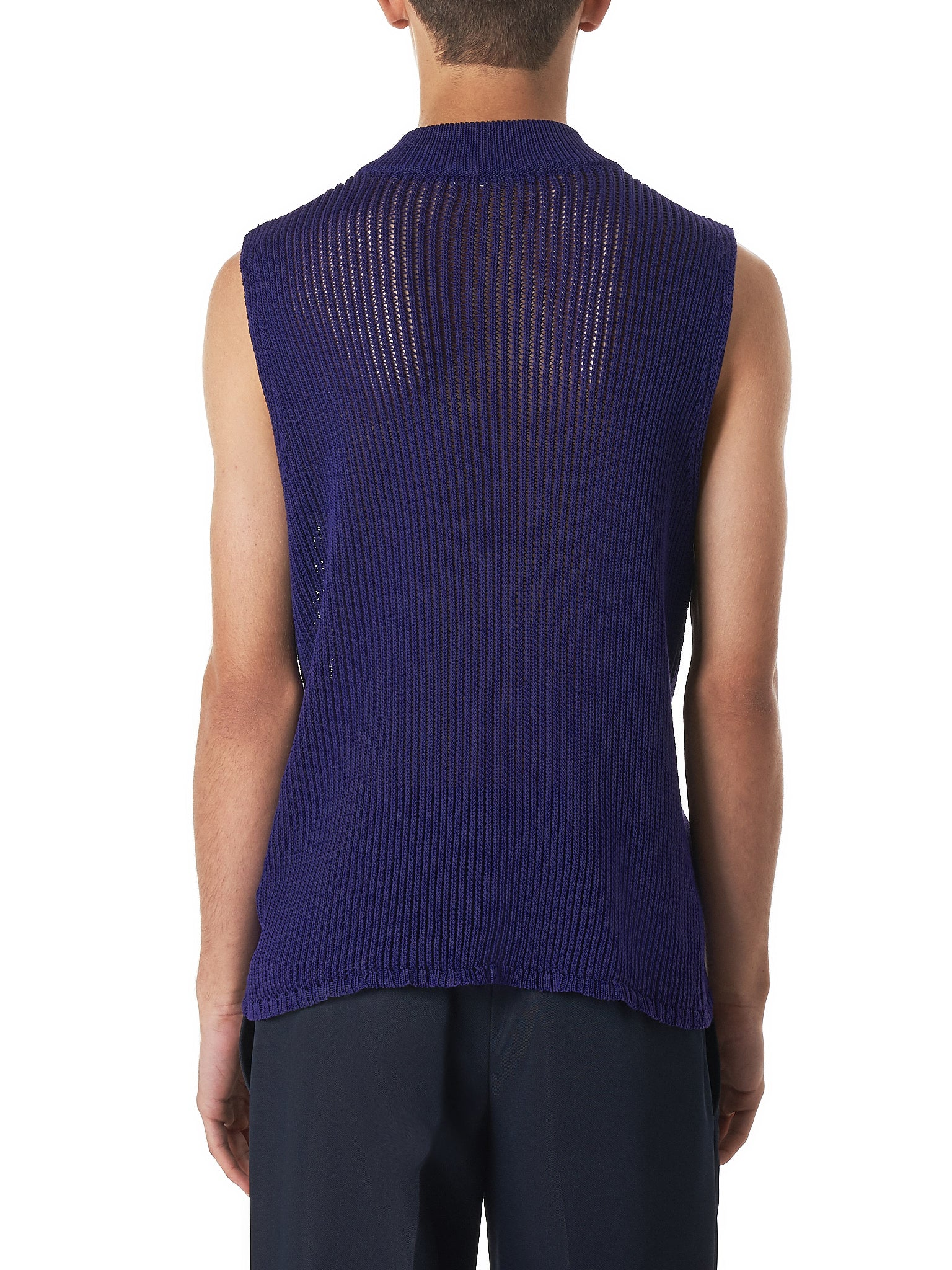 Namacheko Purple Knit Vest - Hlorenzo back