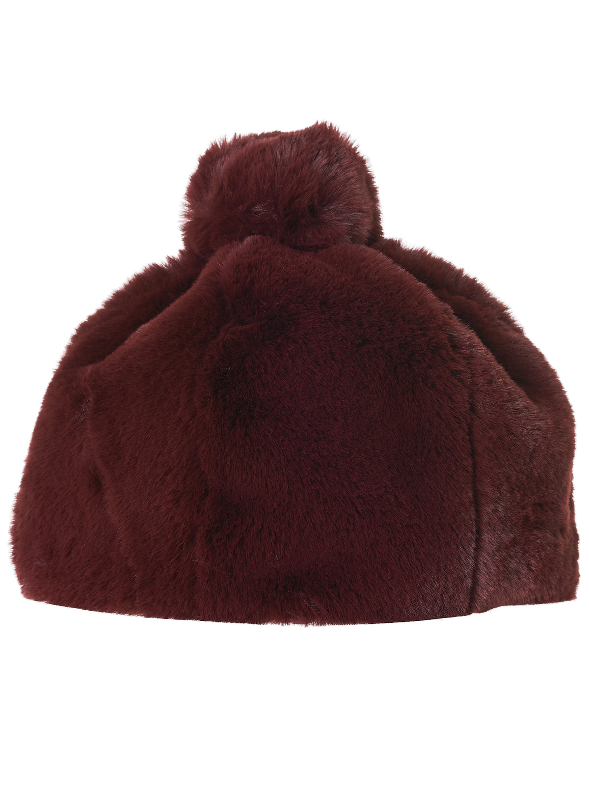 Fur Bobble Hat (087-FPL03-BURGUNDY)