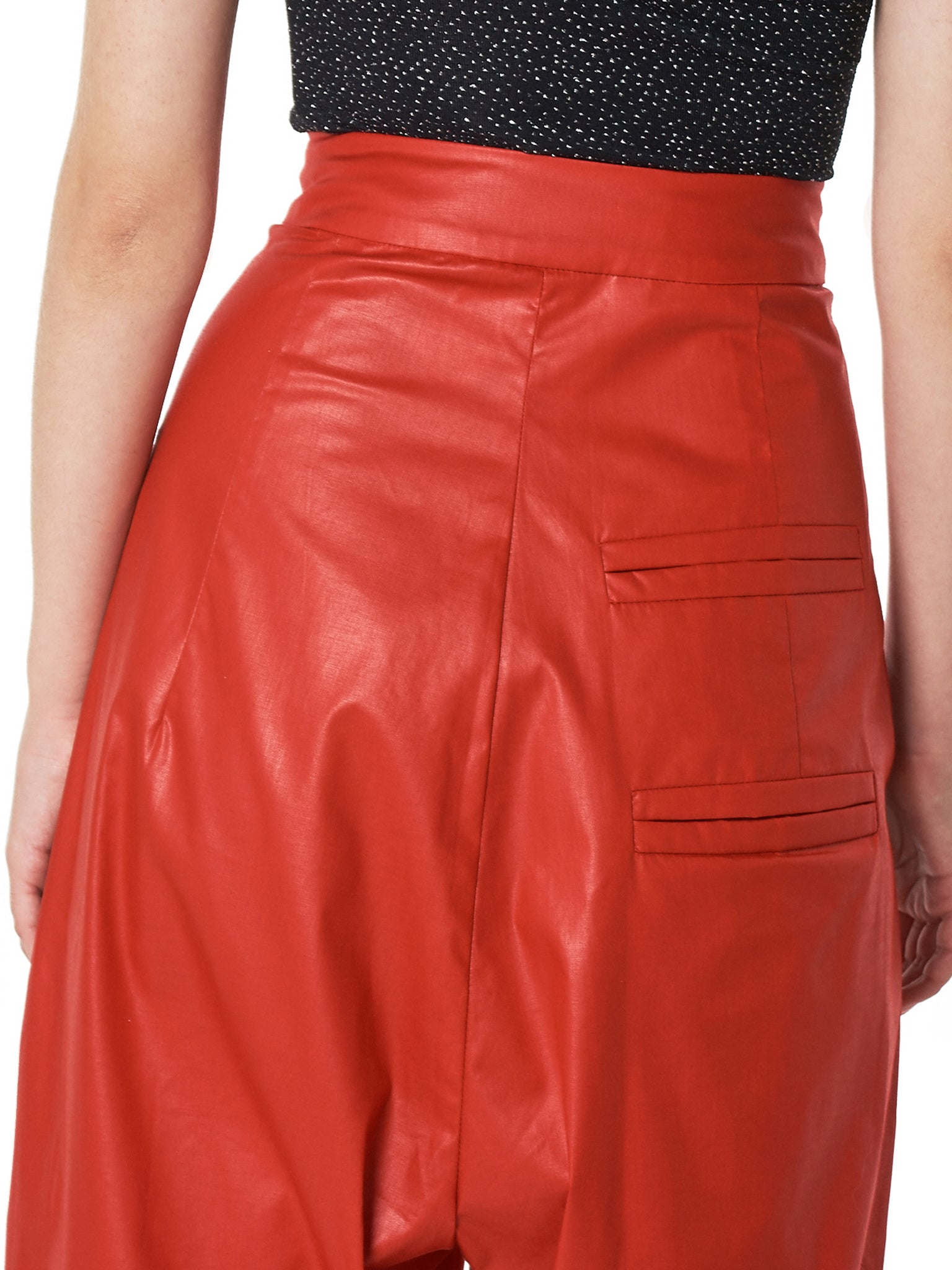 Wide-Leg Pleated Trousers (09-PA-01-RE-RED)