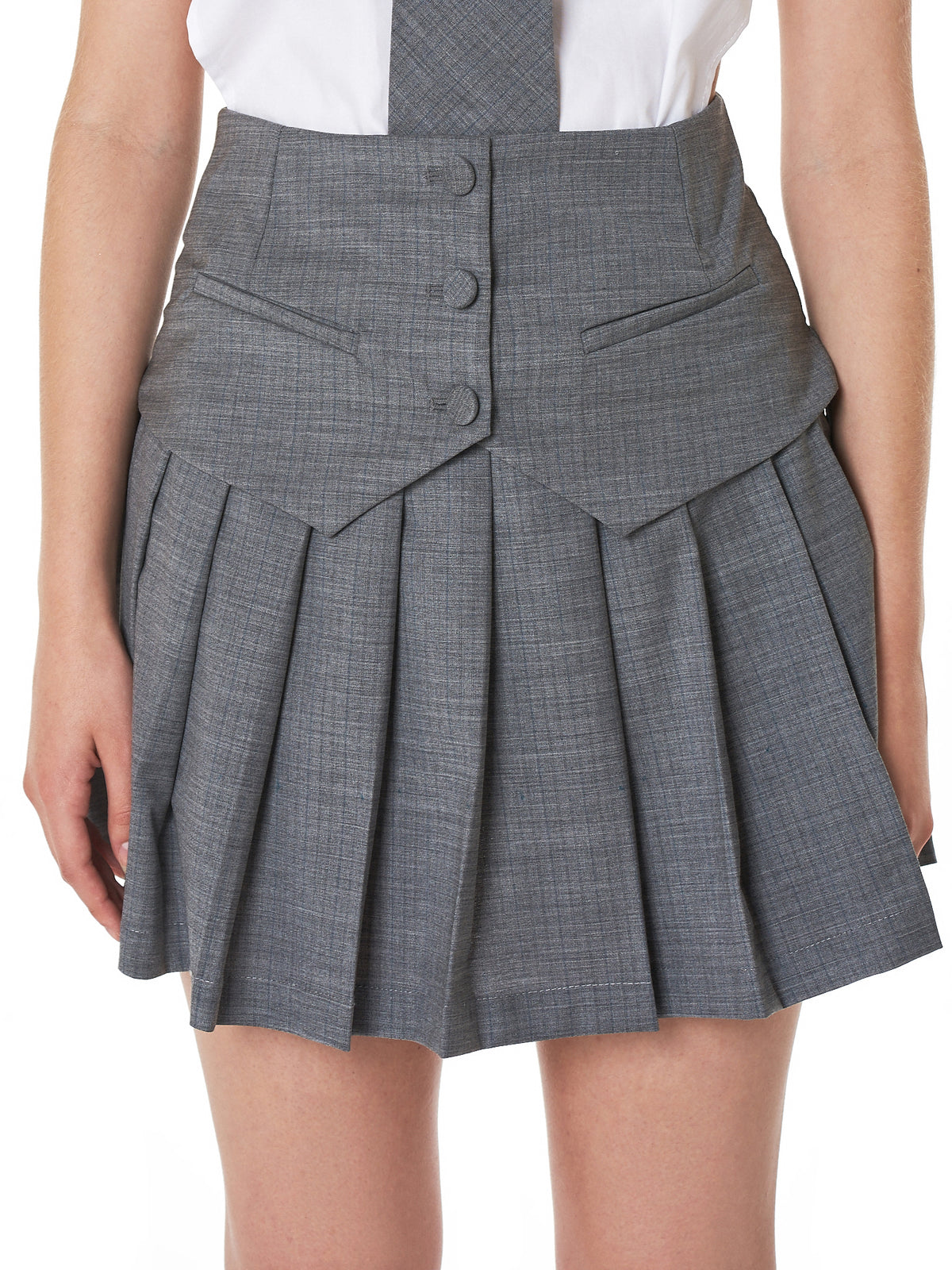 Cut-Off Vest Skirt (09-SK-01-GRAY)