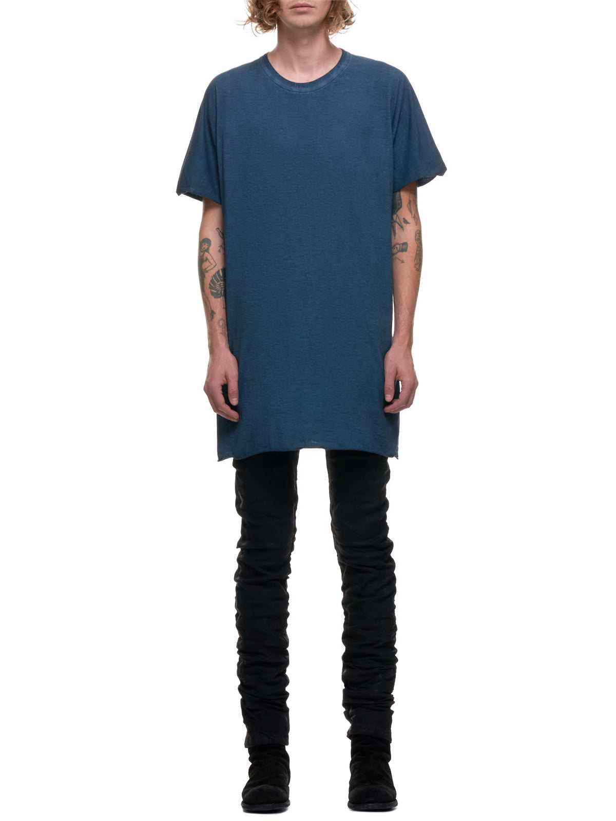 Faded Synth Resin Dyed T-Shirt (ONE-PIECE-TS-RF-F035-FADED-BLU)