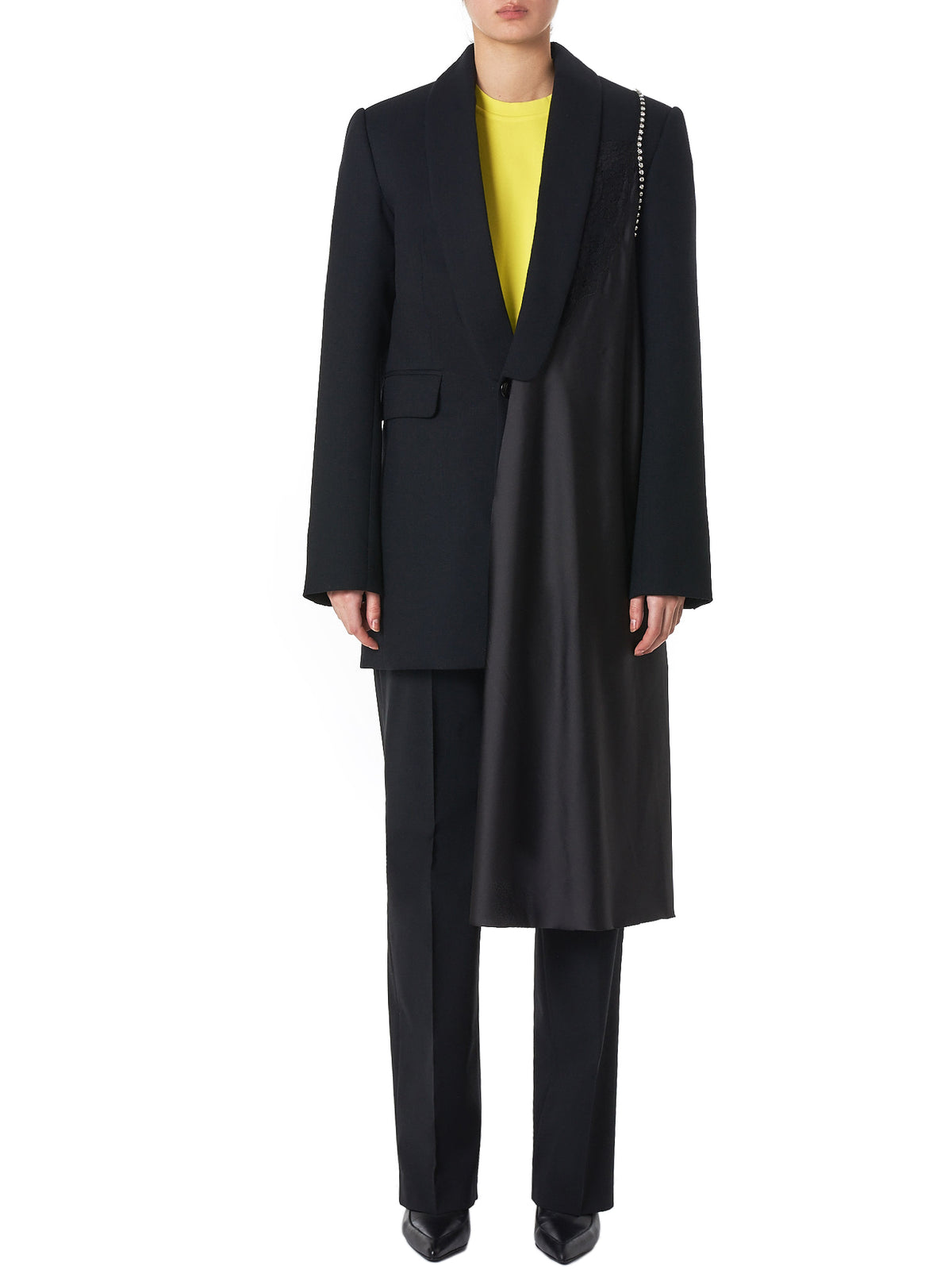 Asymmetrical Overcoat (10-BLACK)