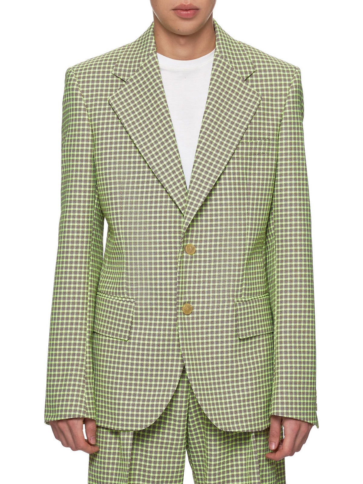 Wicked Jacket (1002-NEON-YELLOW-CHECKS)