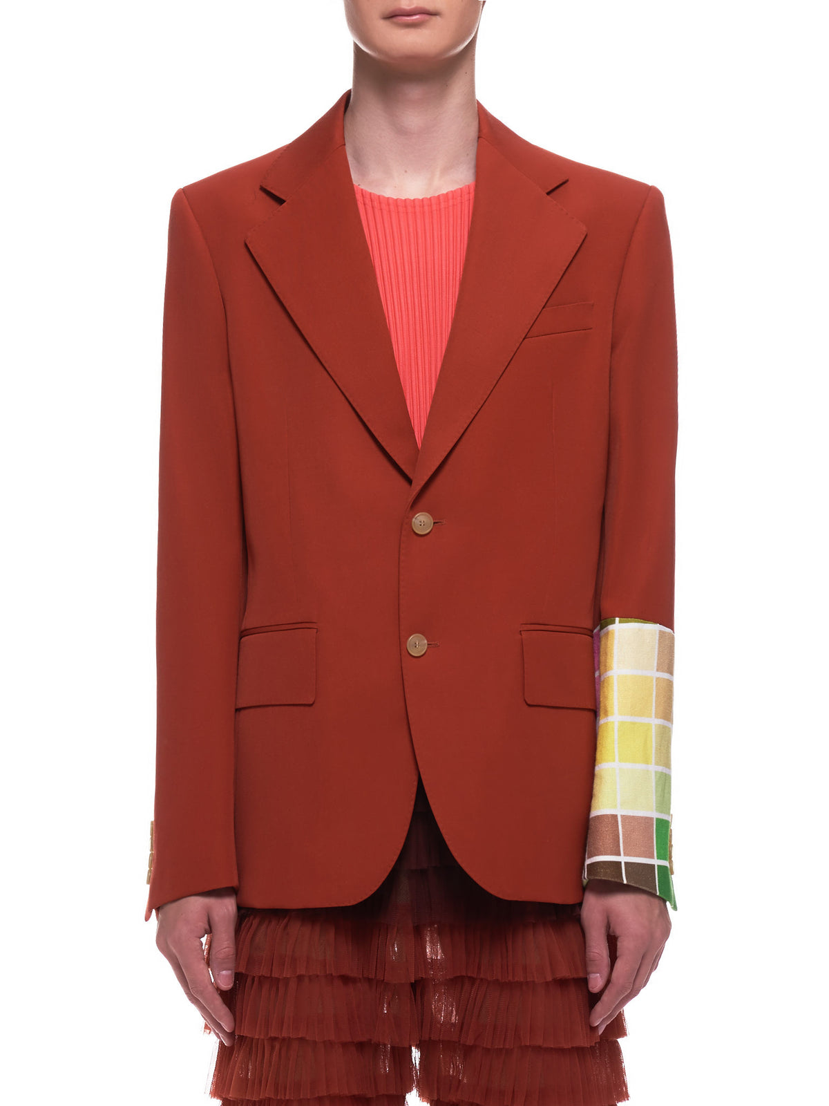 Color Brick Blazer (1004-A-BRICK-RED)