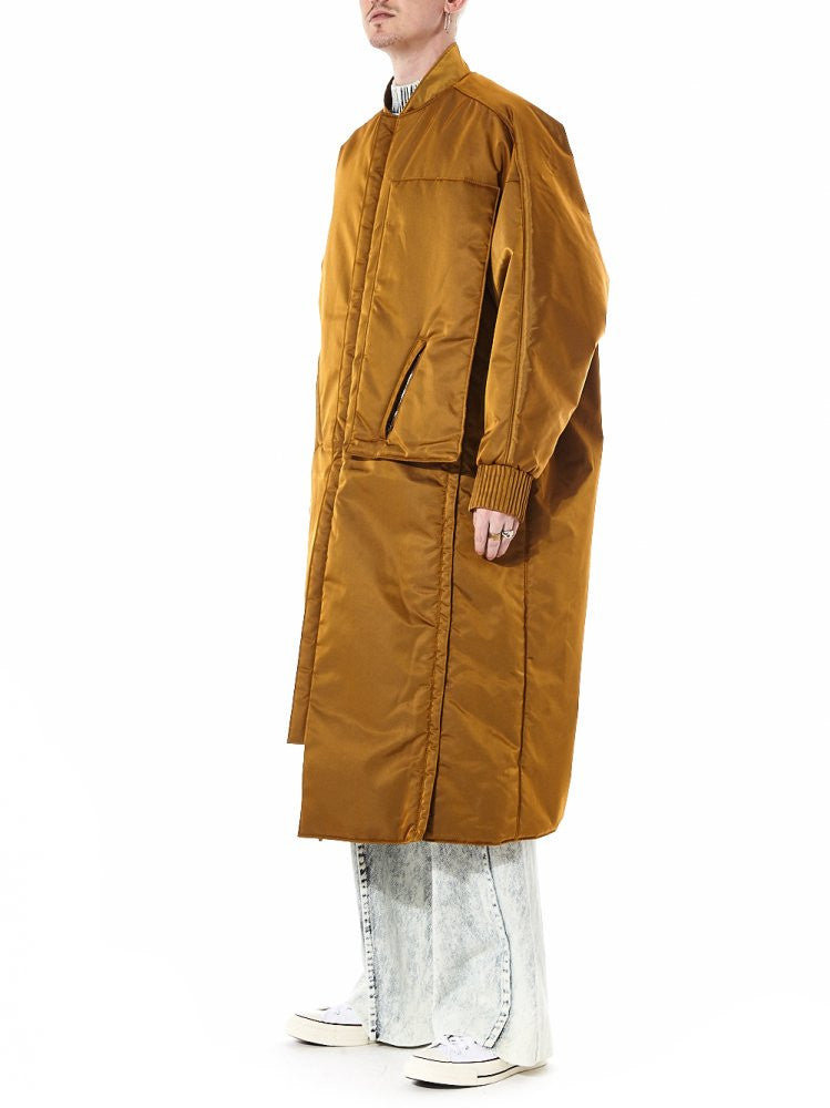 Vented Gold Trench Coat (F16-C551WNY GOLD) - H. Lorenzo