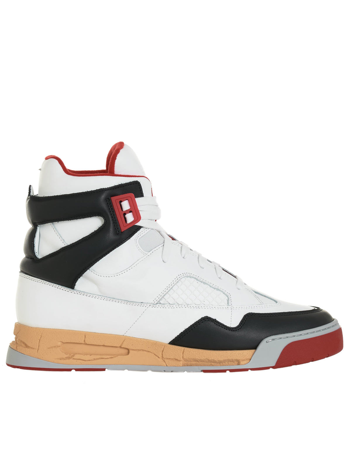 High-Top Trainer Sneaker (S37WS0560-P3712-WHITE-MULTI)