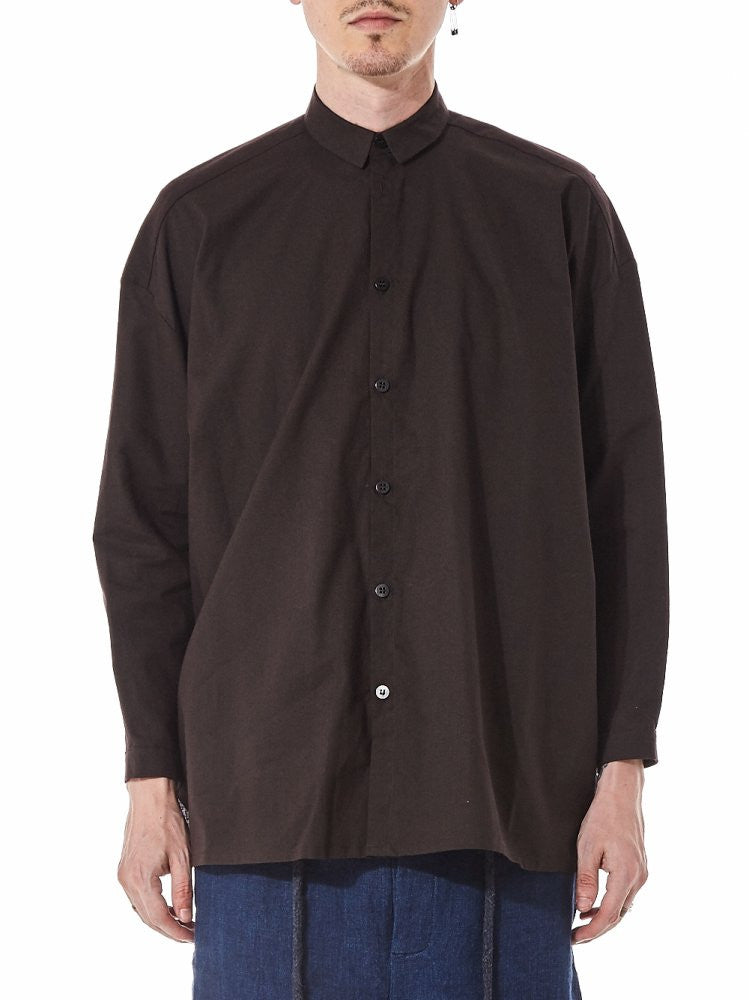 "'The Draughtsman"" Cotton Button Up (THE DRAUGHTSMAN CCLW TAR) - H. Lorenzo"