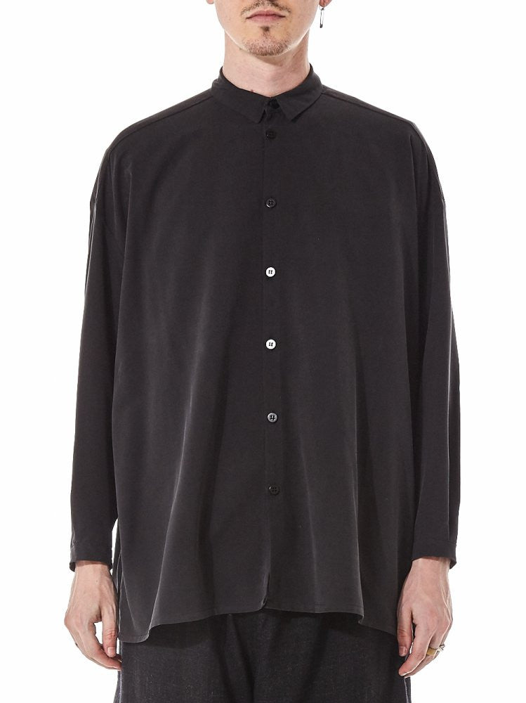 'The Draughtsman' Silk Button  Up Shirt (THE DRAUGHTSMAN SWS TAR) - H. Lorenzo