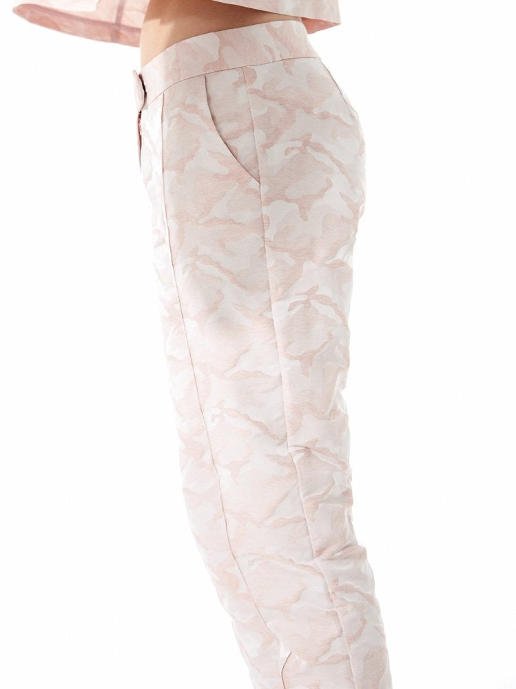 Camouflage Jacquard Trouser (US-SC9-WPNT-003A-P PALE PINK) - H. Lorenzo