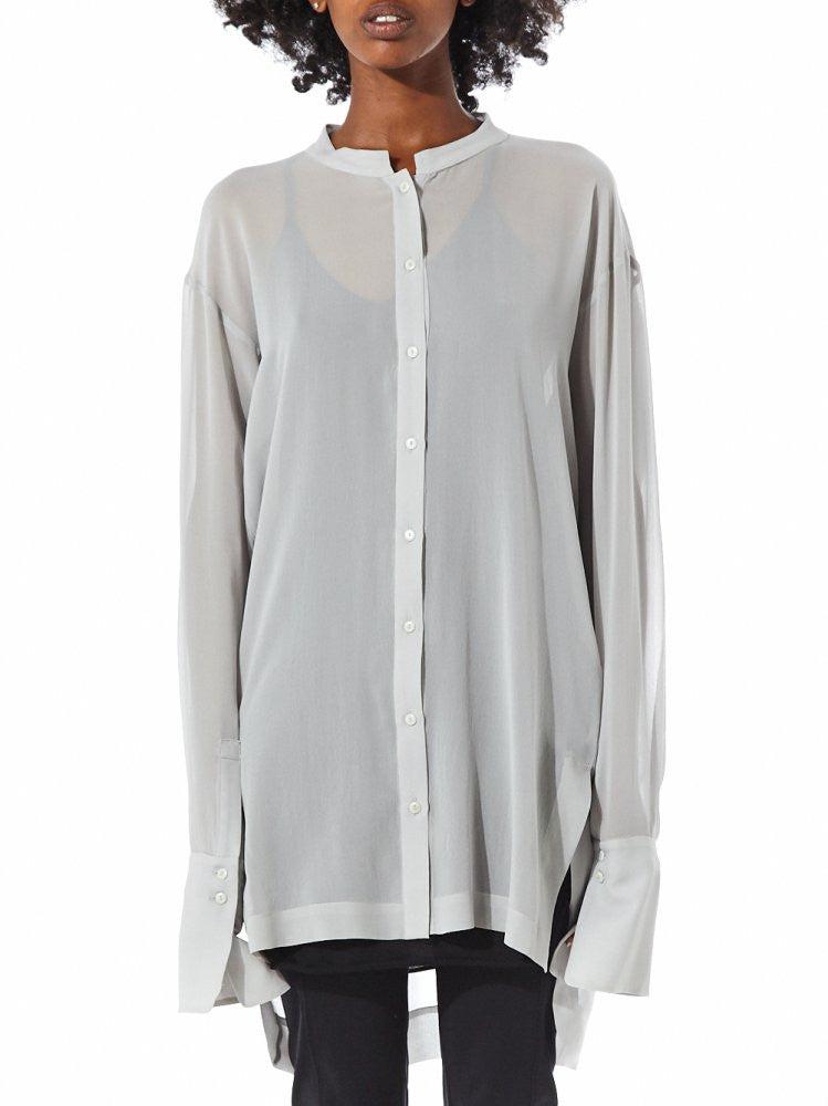 Semi-Sheer Exaggerated Sleeve Blouse (23CY224/22 ICE) - H. Lorenzo