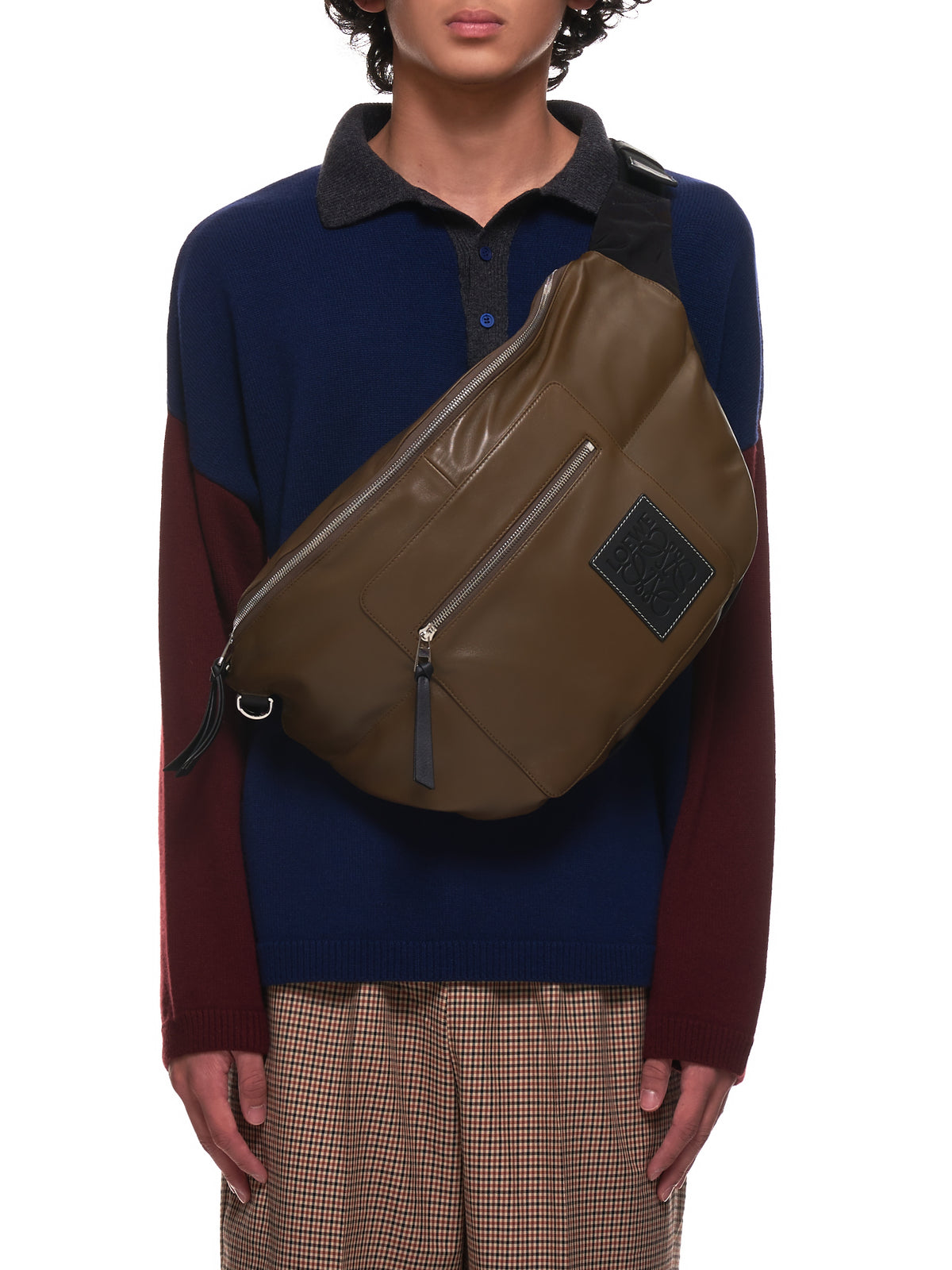 XL Puffy Bumbag (B687C60X01-KHAKI-BROWN-BLACK)
