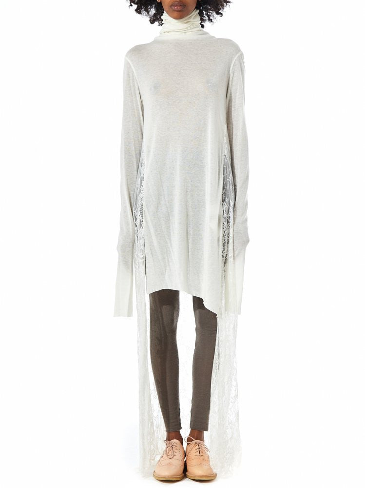 Lace Turtleneck Dress (GKF-DR33 CREAM) - H. Lorenzo