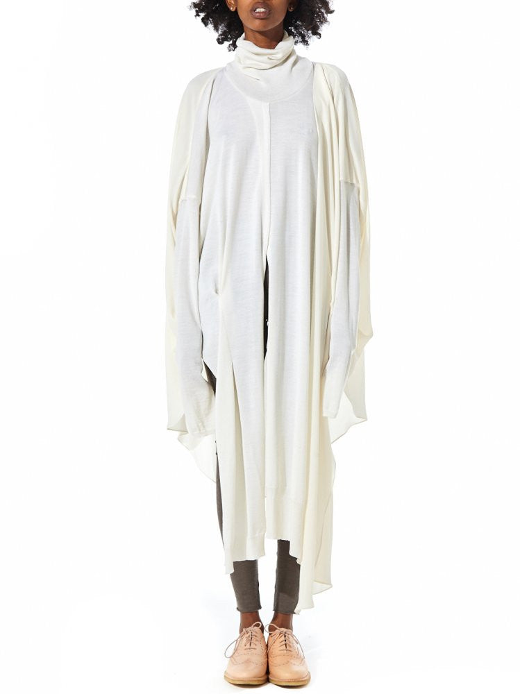 Knit Draped Sweater  (GKF-KN68 CREAM) - H. Lorenzo