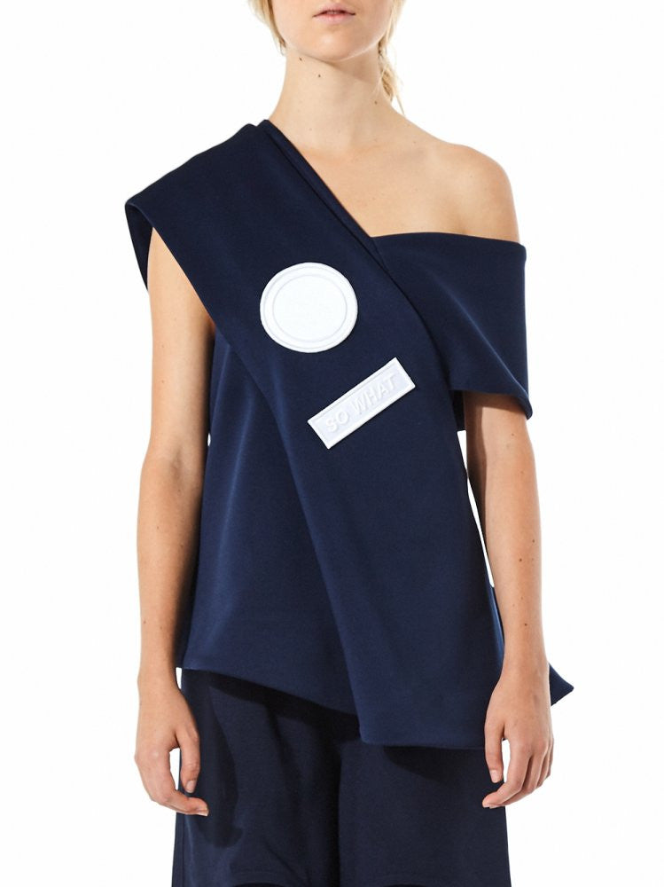 Un-Structured Graphic Top (FW16-3-1 NAVY) - H. Lorenzo