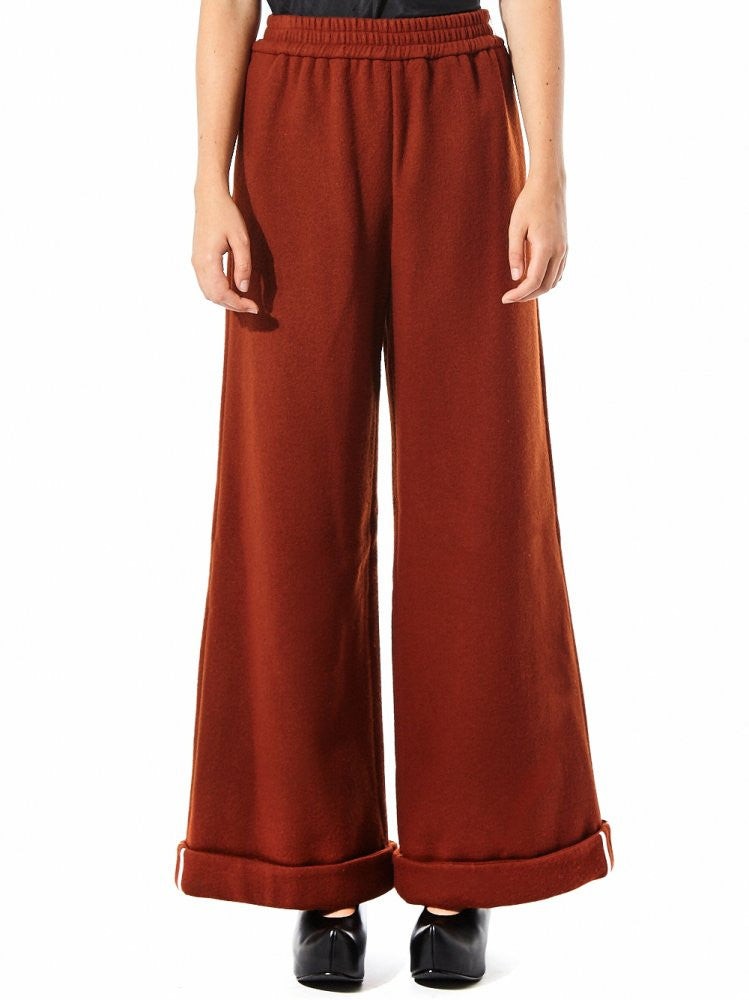 Wool Hemmed Wide Trouser (FW16-9-2 ORANGE) - H. Lorenzo