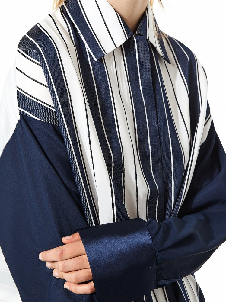 Oversized Striped Oxford (FWT10103 WHITE/BLUE) - H. Lorenzo
