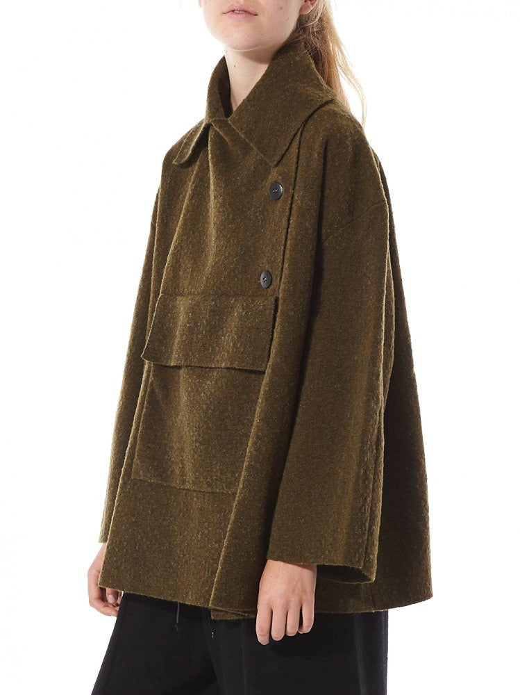 Offset Oversized Coat (3144 Y1) - H. Lorenzo