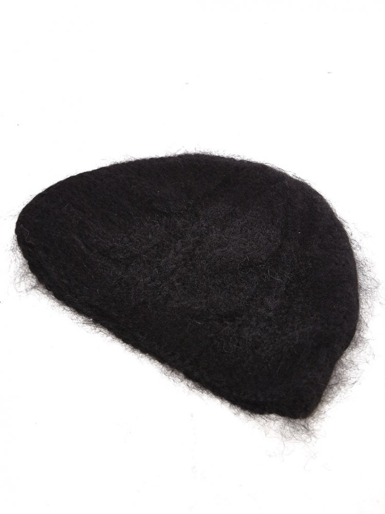 Cashmere Cable Knit Cap (61-02 BLACK) - H. Lorenzo