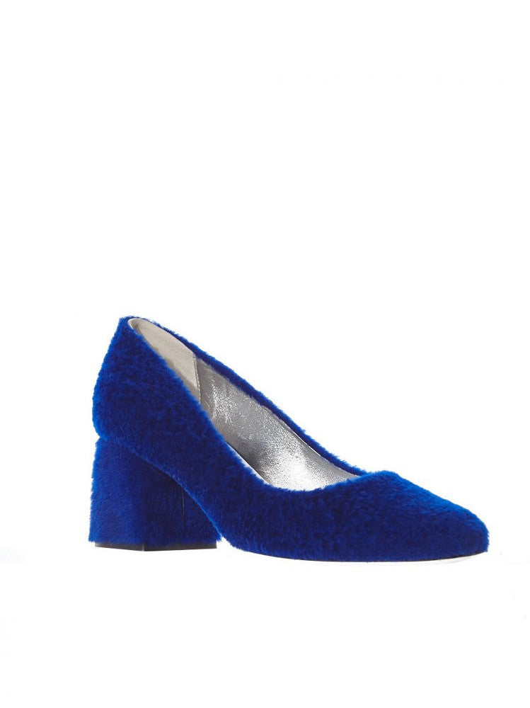 Shearling Block Heel (BB SHEARLING BLUE)