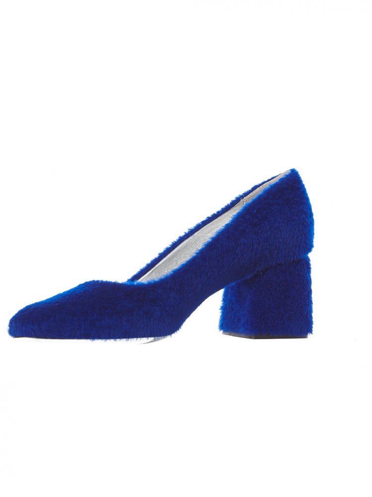 Shearling Block Heel (BB SHEARLING BLUE) - H. Lorenzo