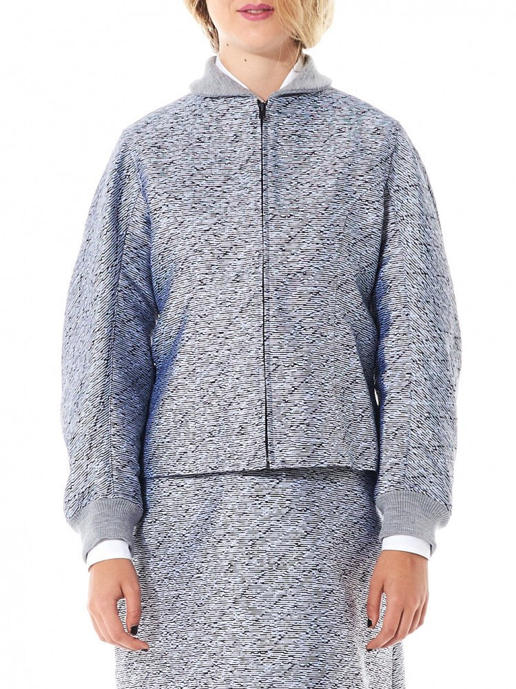 Fitted Bomber With Exterior Panel Gilet (16AARAC08B GRAY) - H. Lorenzo