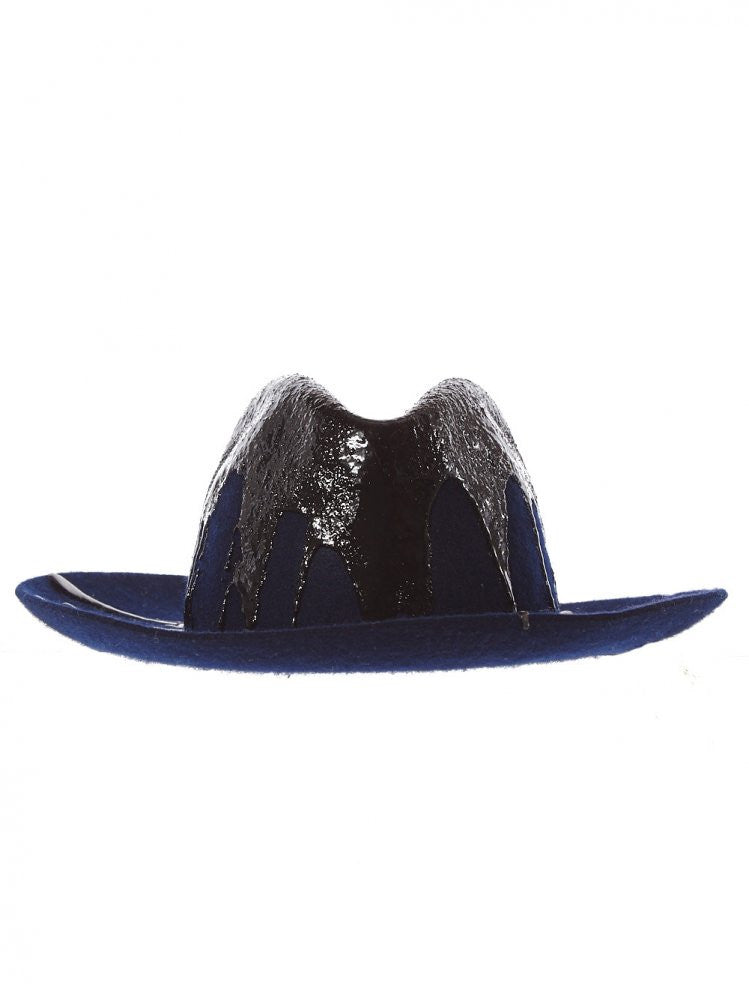 Pinch Drip Crown Fedora (6225SDDLI 09 BLUE) - H. Lorenzo