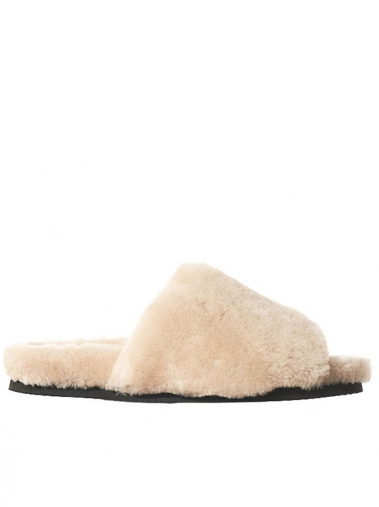 Shearling Sandals (AW16-PET-SHEARLING WHITE)
