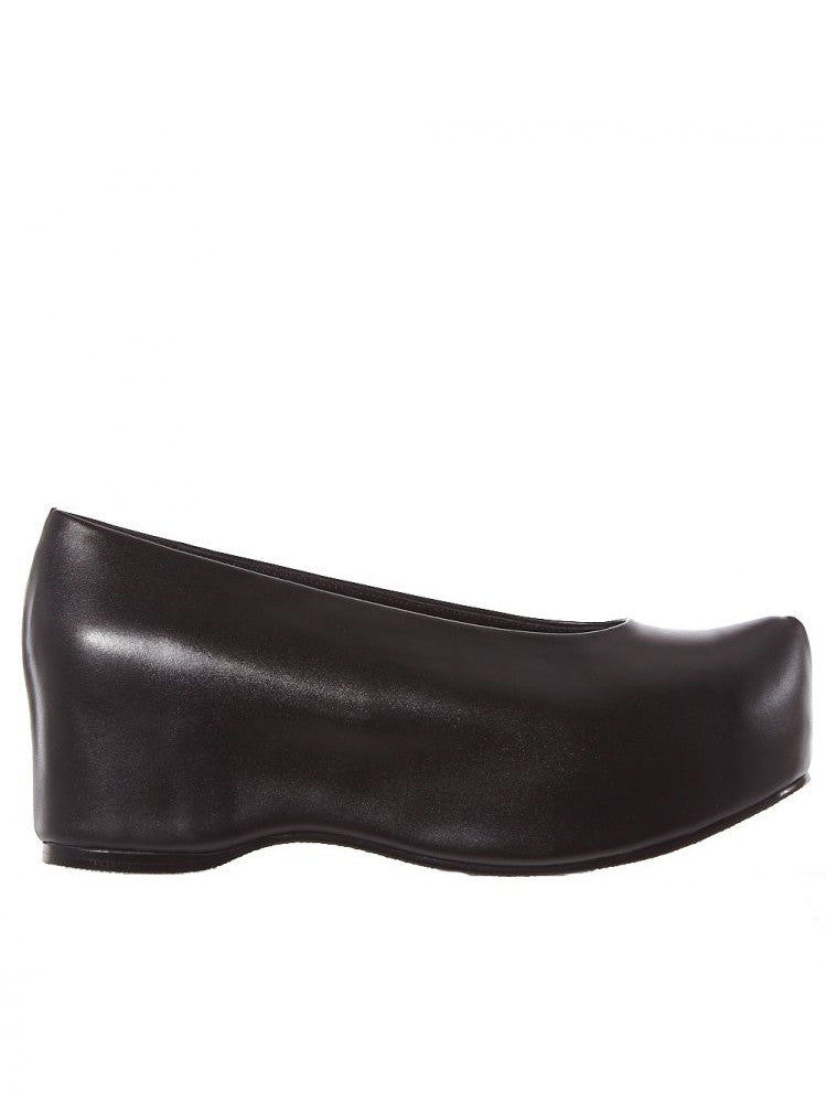 Leather Platform Clogs (FPC-AR BLACK)
