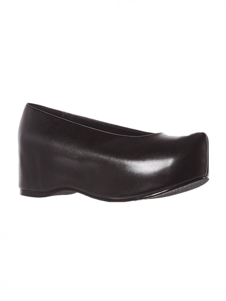 Leather Platform Clogs (FPC-AR BLACK) - H. Lorenzo