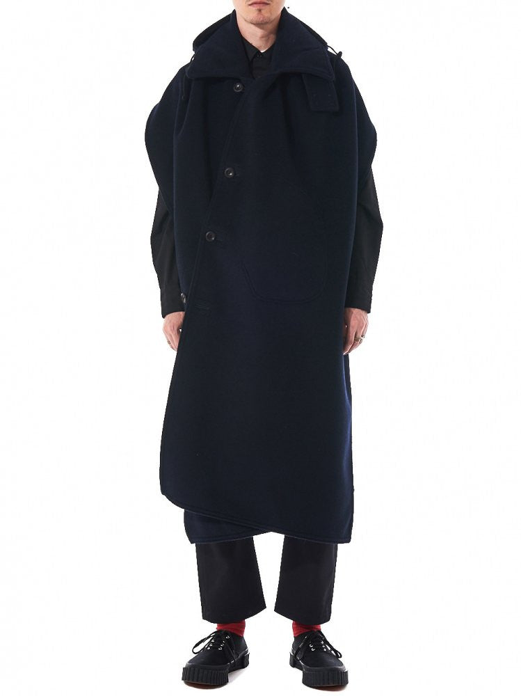 Backless Felt Overcoat (WR-J019-051-2) - H. Lorenzo