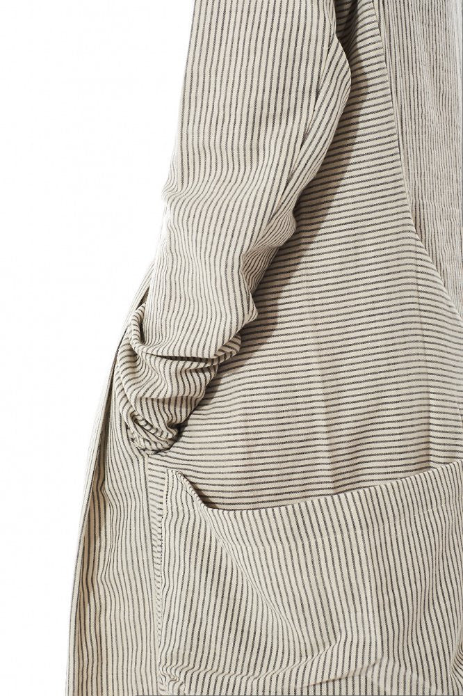 Pinstripe Tie-Back Dress (2160312 OYSTER) - H. Lorenzo