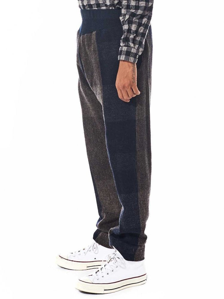 Glen Plaid Knit Trouser (AW16 32 29 DARK) - H. Lorenzo