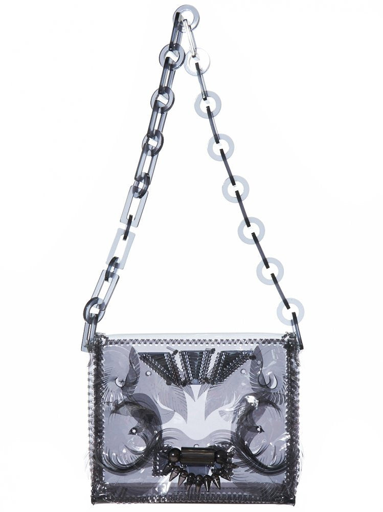 Vinyl Chloride Chain Bag (MM16AW AC094 BLACK) - H. Lorenzo