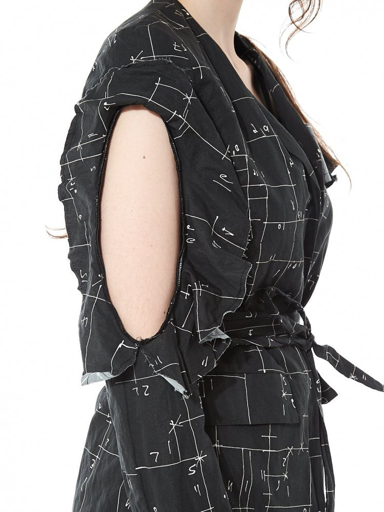 Asymmetric Area Print Jacket (D123S-01 STAMP09/BLACK) - H. Lorenzo