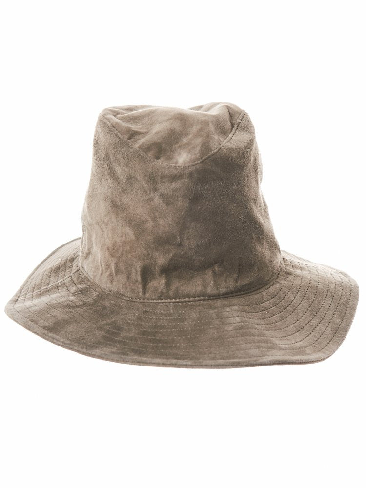 Leather Wide Brimmed Hat (162707-07) - H. Lorenzo