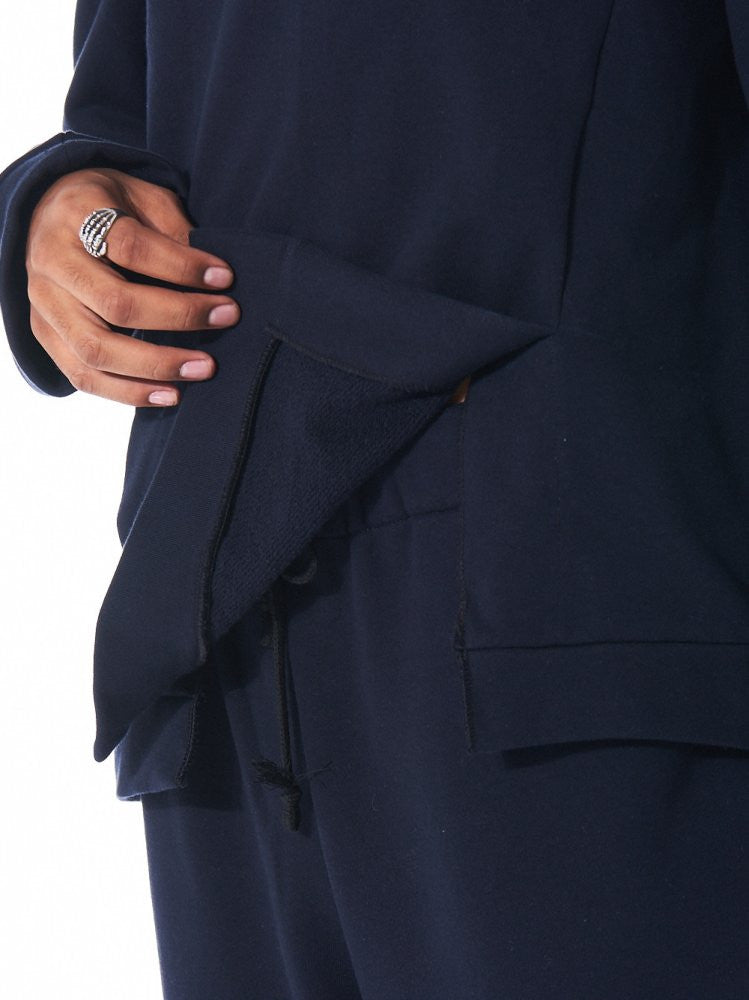 Vented Pullover (S16AW-SW02 NAVY) - H. Lorenzo