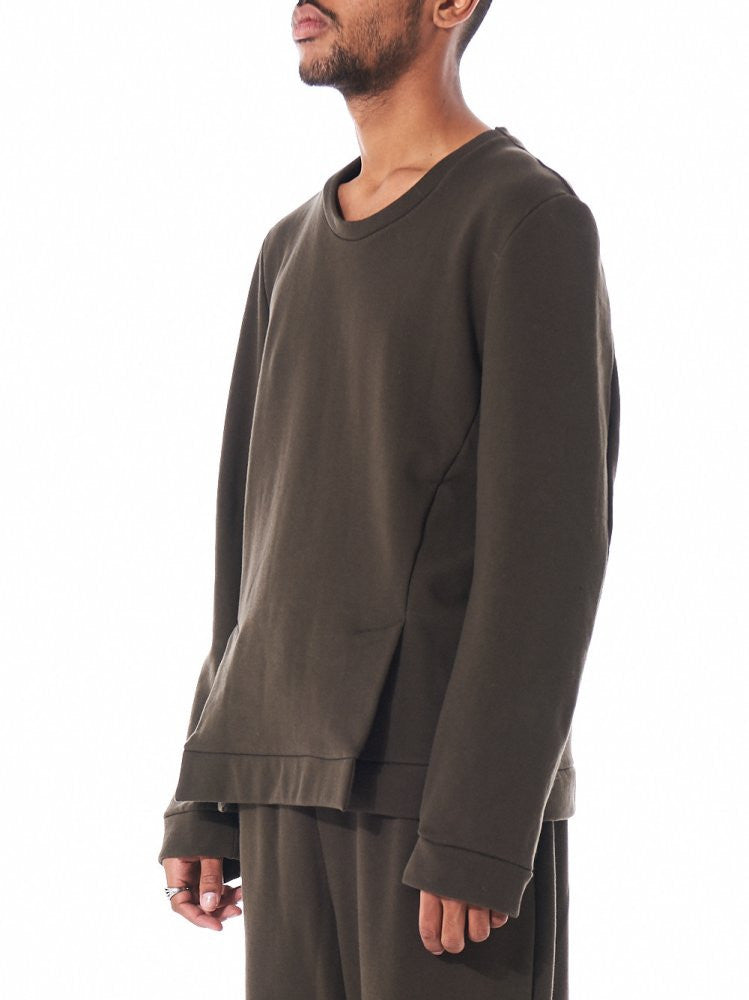 Vented Pullover (S16AW-SW01 KHAKI) - H. Lorenzo