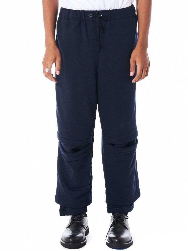 Cropped Vented Knee Trouser (S16AW-SWPT02 NAVY) - H. Lorenzo