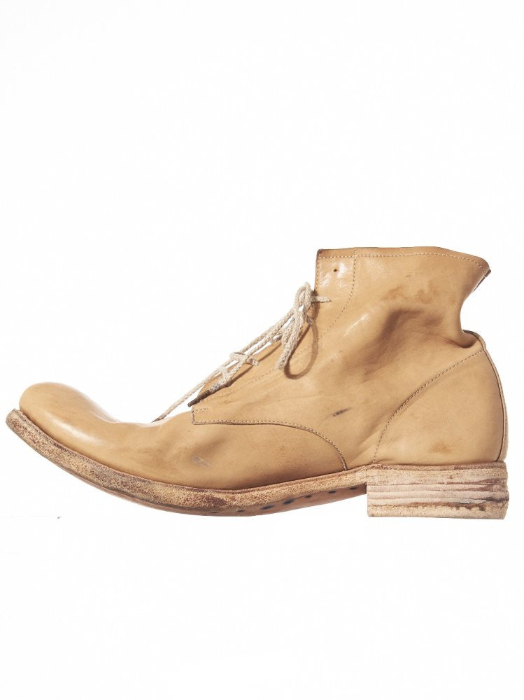 Distressed Natural Leather Ankle Book (AW16/17 06B NATURALE) - H. Lorenzo