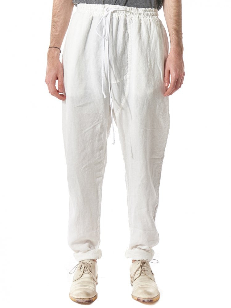 Relaxed Drawstring Trousers (20.339.646R WHITE) - H. Lorenzo