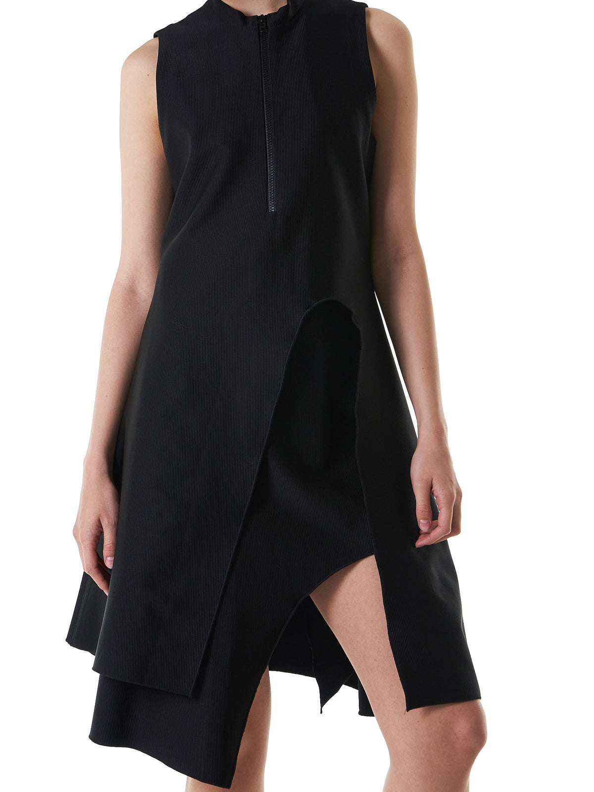 Structured Sleeveless Dress (11-1-B-BLACK) - H. Lorenzo