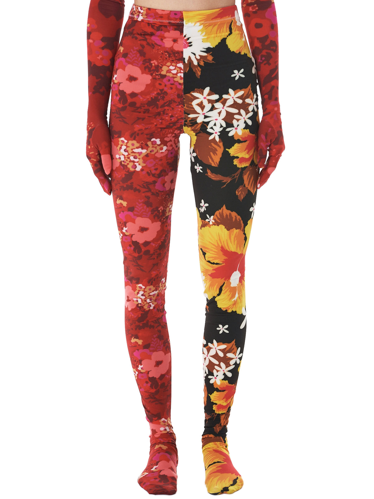 Floral Round Toe Leggings (11-TT1-MULTI)