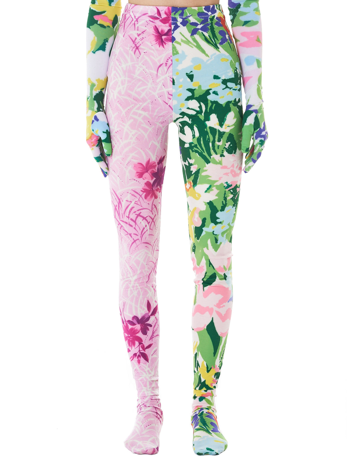 Floral Round Toe Leggings (11-TT8-MULTI)