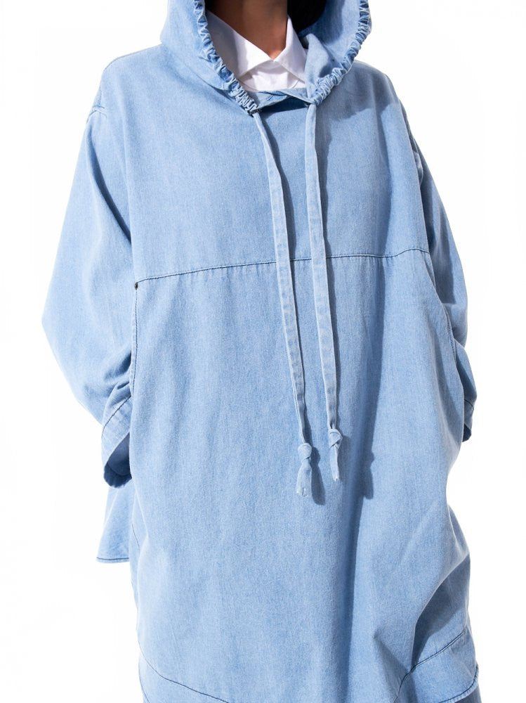 Oversized Linen Hooded Poncho (HOODED EVERYTHING MEDIUM LIGHT) - H. Lorenzo