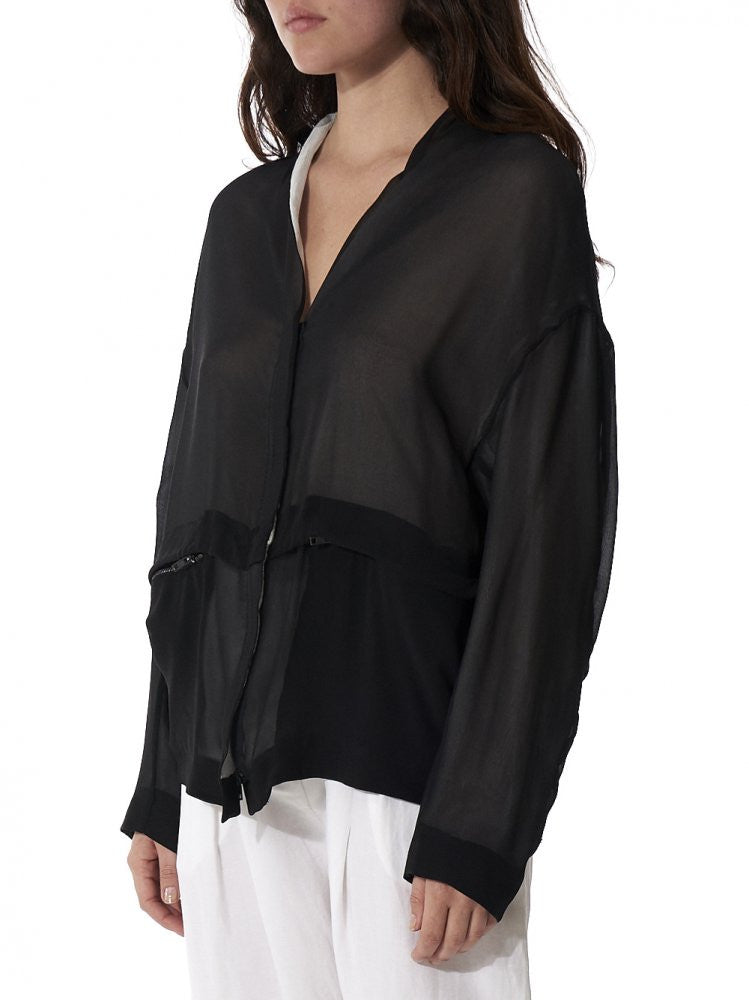Sheer Jacket (IB3236 BLACK) - H. Lorenzo