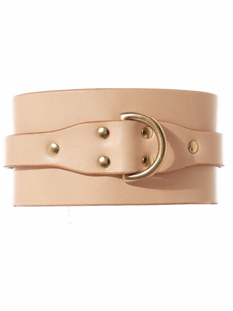 Leather Buckled Choker (AW16-CLR-CLC NUDE) - H. Lorenzo