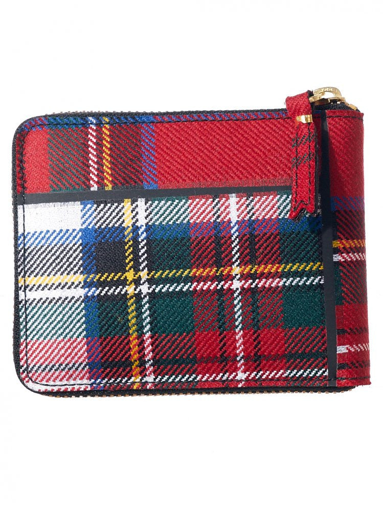 Patchwork Tartan Zip Wallet (SA-7100TP RED) - H. Lorenzo