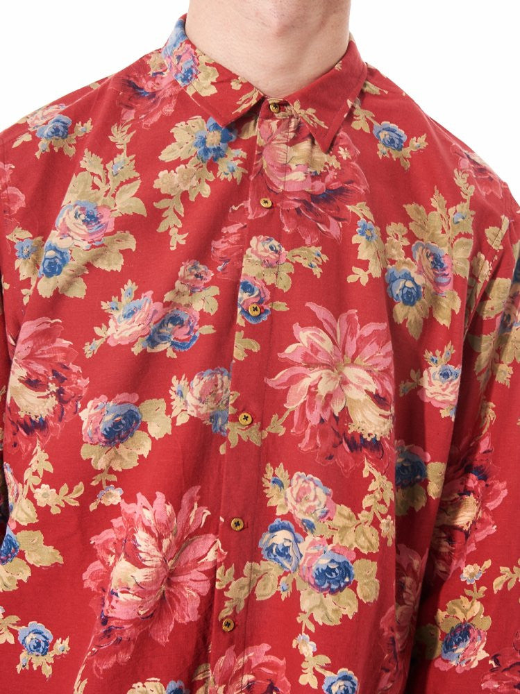 Woven Floral Shirt (PF MPS SH14 RED FLORAL) - H. Lorenzo
