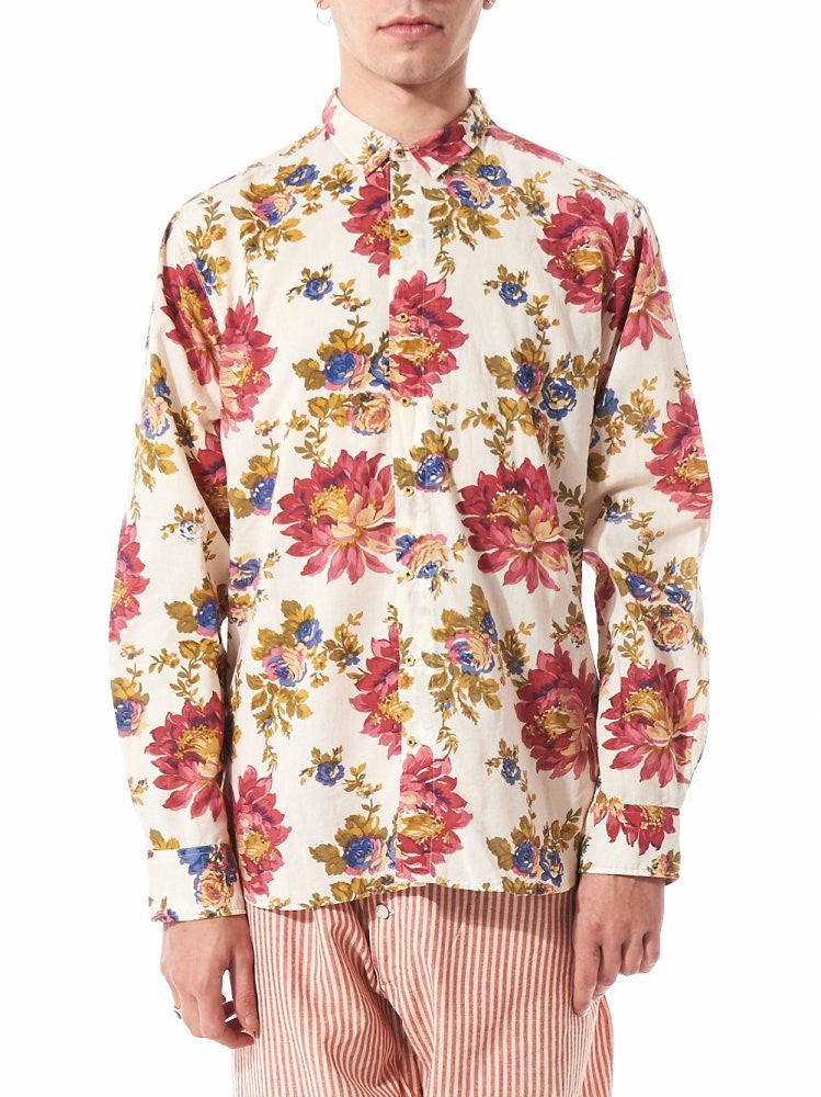 Woven Floral Shirt (PF MPS SH12 NATURAL FLORAL) - H. Lorenzo