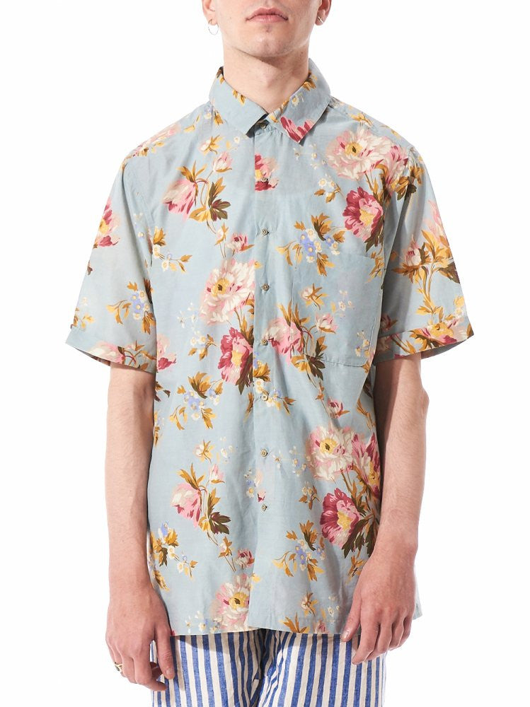Short Sleeve Floral Shirt (PF MPS SH13 LT BLUE FLORAL) - H. Lorenzo